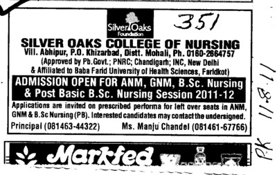 GNM ANM and Post Basic BSc Nursing (Silver Oaks College of Nursing)