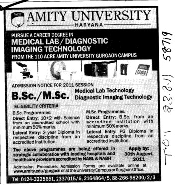 BSc and MSc Course (Amity University Manesar)
