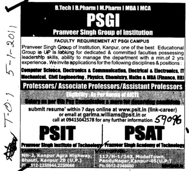 PSIT and PSAT Course (Pranveer Singh Group of Institution)