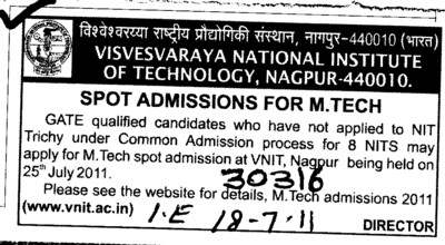 MTech Course (Visvesvaraya National Institute of Technology (VNIT))