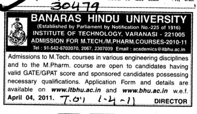 MTech Course (Banaras Hindu University)