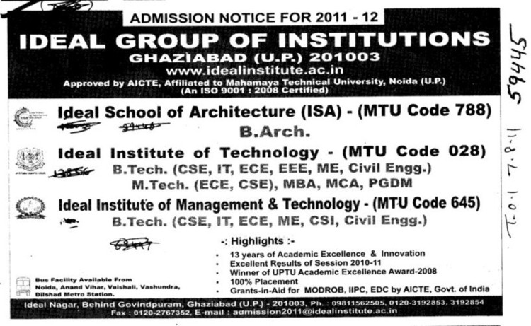 B Arch Course (Ideal Group of Institutions)