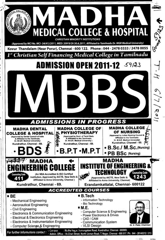 MBBS Course (Madha Group)