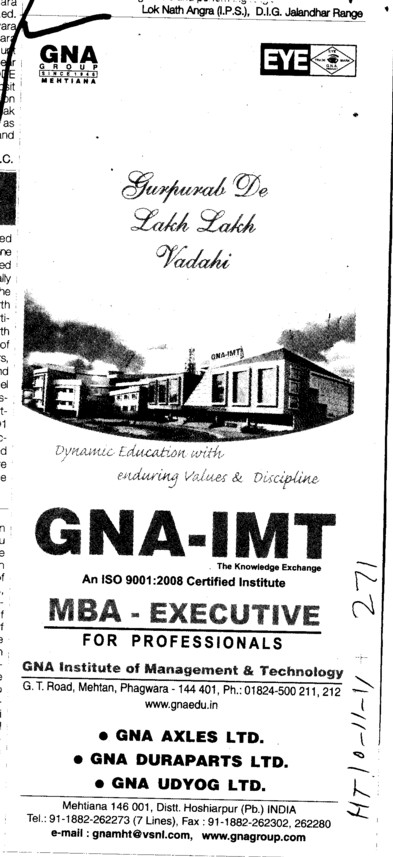 GNA IMT Course (GNA Institute of Management and Technology)