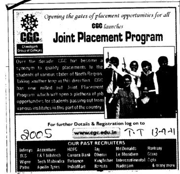 Joint Placement Program (Chandigarh Group of Colleges)