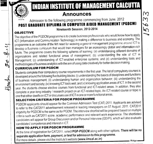 indian institutes of management and interview Find about indian institute of management (iim) indore admissions conducted by the indian institutes of management group discussion and personal interview.