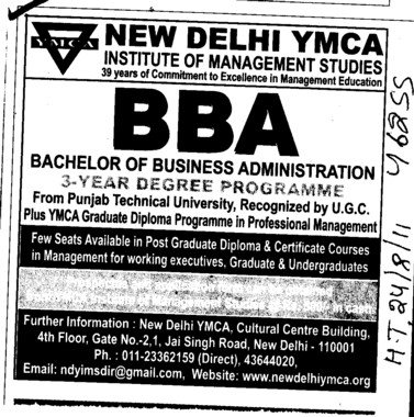BBA Course (ND YMCA Institute Of Management)