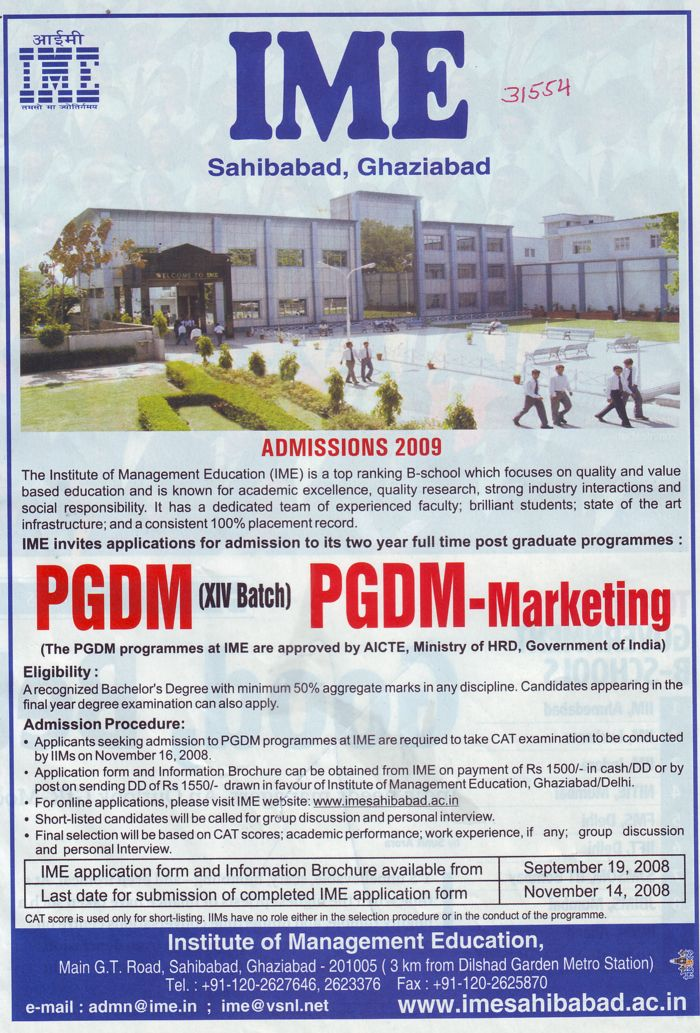 Post Graduate Diploma in Management and Marketing (IME Law College)