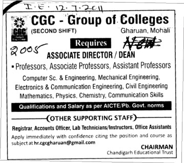 Associate Proffessor and Dean (Chandigarh Group of Colleges)