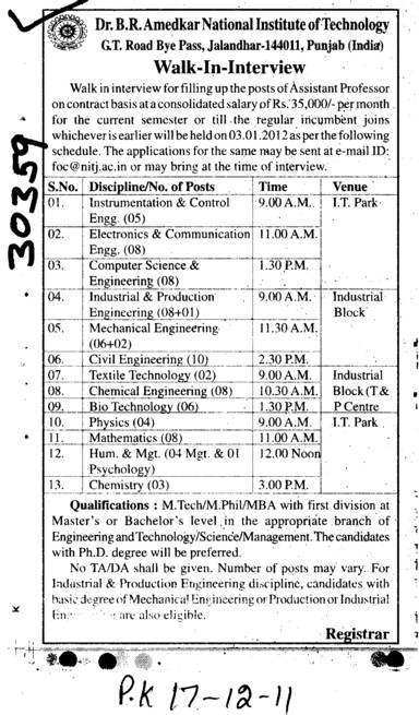 Btech Engineers (Dr BR Ambedkar National Institute of Technology (NIT))