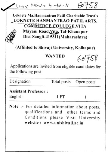 Assistant Proffessor (Loknete Hanmantrao Patil Arts Commerce College)