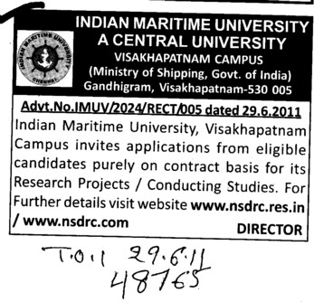 Research Projects (Indian Maritime University)