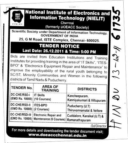 Electronics Equipment Repair (National Institute of Electronics and Information Technology (NIELIT))