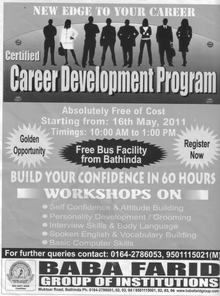 New Edge to your Career (Baba Farid Group of Institutions)
