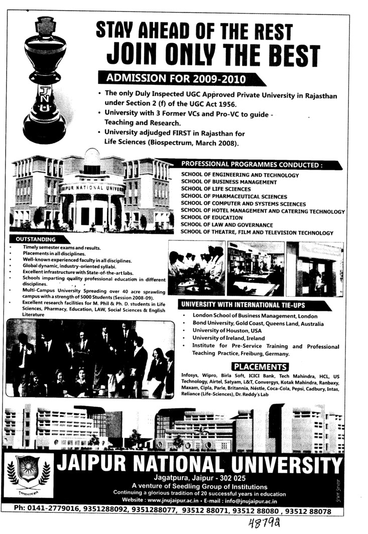 100 percent Placement Campus (Jaipur National University)