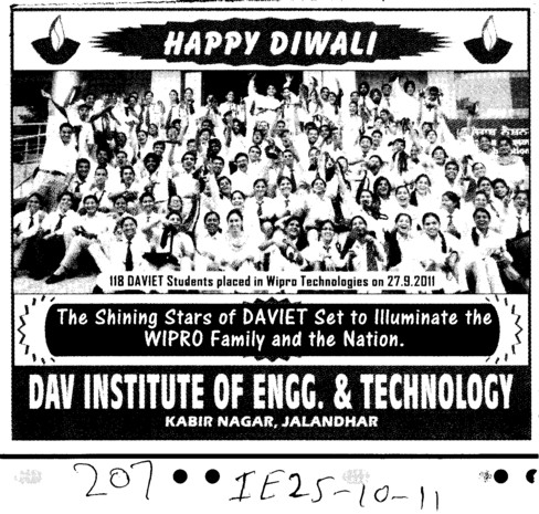 The Shinning Stars (DAV Institute of Engineering and Technology DAVIET)