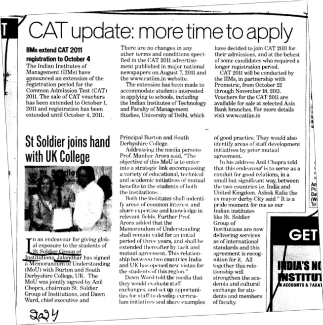 CAT update more time to apply (St Soldier Group)