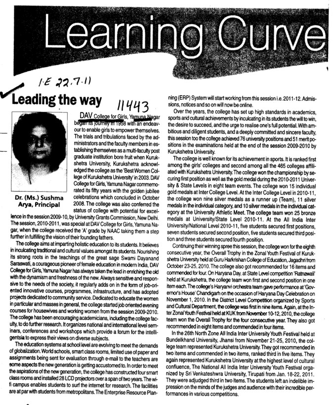 Learning Curve (DAV College for Girls)