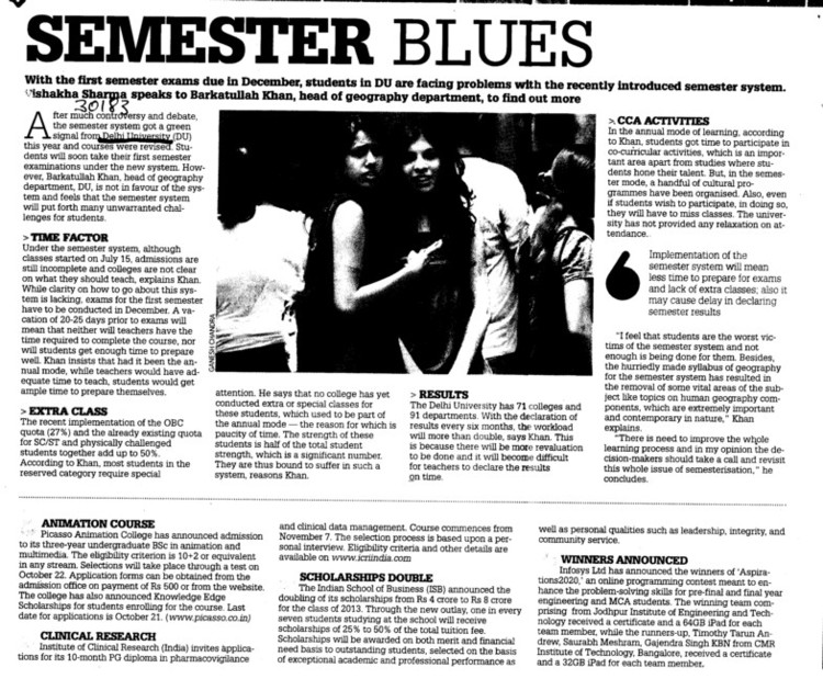 Semester Blues (Delhi University)
