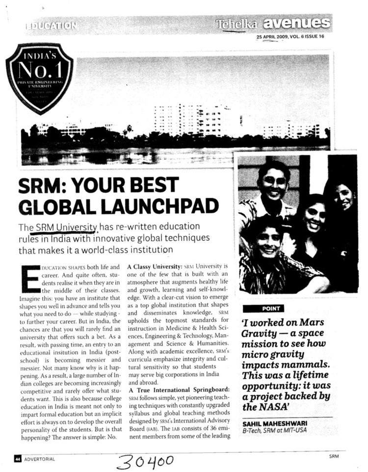 Your Best Global Launchpad (SRM University)