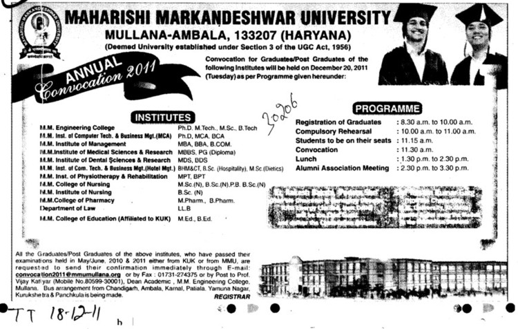 PhD MS MBBS and LLB etc (Maharishi Markandeshwar University)