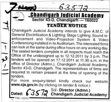 Lighting and Enforcement etc (Chandigarh Judicial Academy)