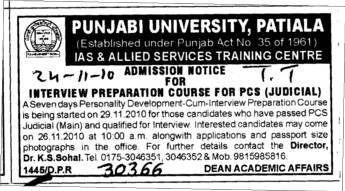 PCS Judicial Course (Punjabi University)