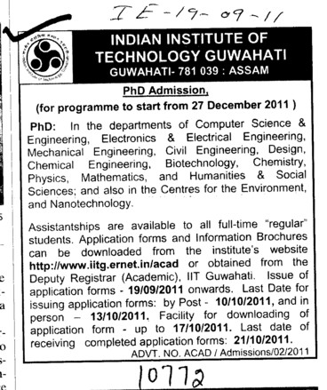 PhD Programmes (Indian Institute of Technology IIT)