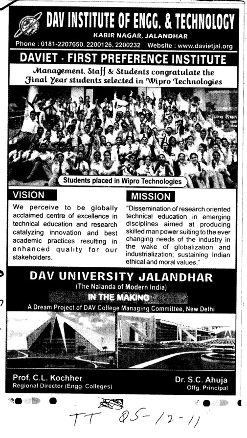 First Preference Institute (DAV University)