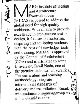 Global needs for High Quality architecture (MARG Institute of Design and Architecture Swarnabhoomi (MIDAS))