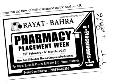 Pharmacy Placement Week (Rayat and Bahra Group)