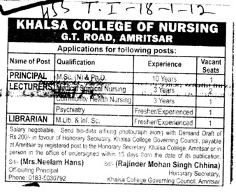 Principal,Lecturers and Librarian (Kamla Nehru College for Women)