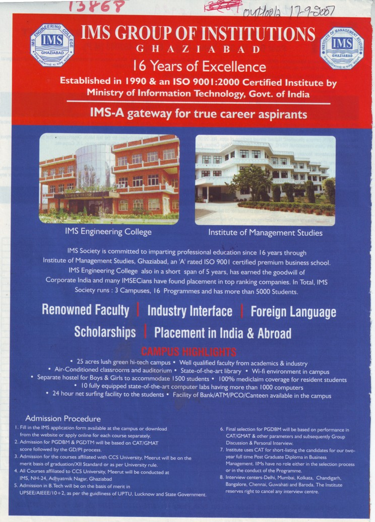 Ghaziabad pin code - Renowned Faculty And Foreign Language Etc