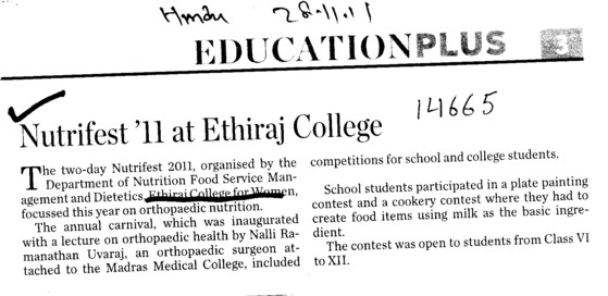 Nutrifest 11 at Ethiraj College (Ethiraj College for Women Egmore)
