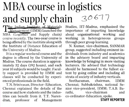 Logistics and Supply Chain Management strange college subjects