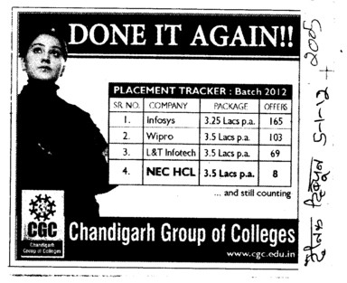 Done it again (Chandigarh Group of Colleges)
