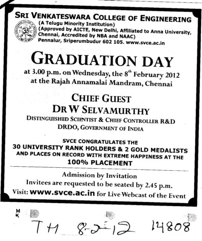 Graduation Day (Sri Venkateswara College of Engineering and Technology (SVCET))