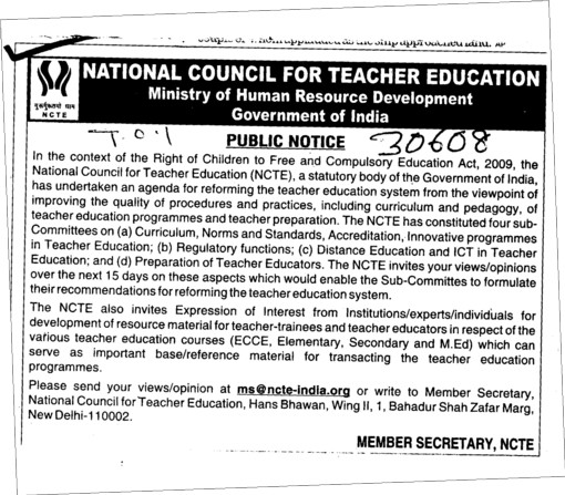 Ncte rules for b.ed course university