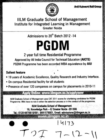 Institute for integrated learning in management iilm gsm for Soil 2 year pgdm