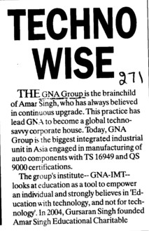 Techno Wise (GNA Institute of Management and Technology)