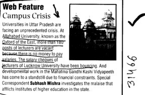 Web Feature Campus Crisis (University of Allahabad)
