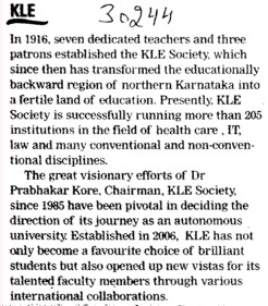 Educationally and Backward region (KLE University)