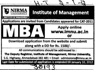 MBA Course (Nirma University)