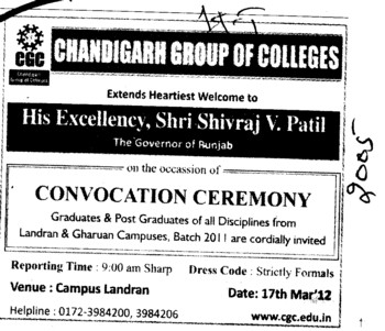 Convocation Ceremony 2011 (Chandigarh Group of Colleges)