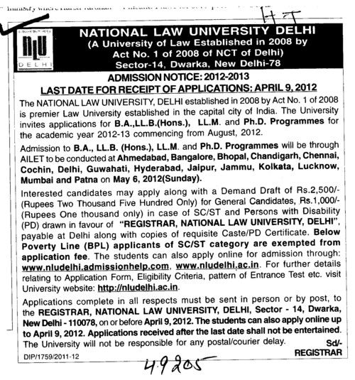 BA,LLB BCom and LLM etc (National Law University)