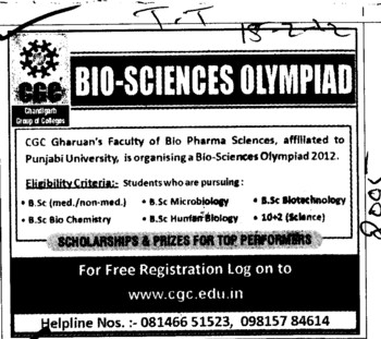 BSc in Biotechnology and Chemistry etc (Chandigarh Group of Colleges)