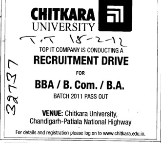 BBA,BCom and BA Courses (Chitkara University)