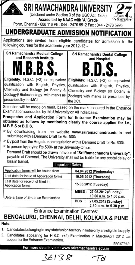 MBBS and BDS Courses (SRM University)