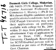 Assistant Professor for PhD Programmes (Dashmesh Girls College)