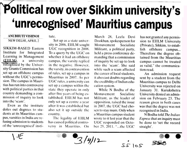 Sikkim University | Admission Result Scholarship